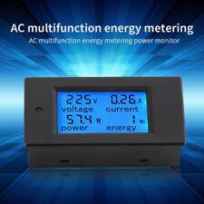 Digital AC 20A Power Meters Monitor Volt Amp kWh Watt Cambo Energy Meter w/ case