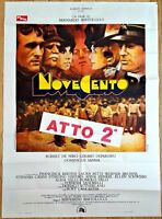 """Rare 1976 1900:NOVECENTO MOVIE 40"""" x 54"""" ORIGINAL ITALIAN POSTER Robert De Niro"""