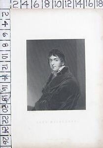 c1850 ANTIQUE PRINT ~ LORD MELBOURNE