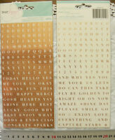 WORDS, Letter & Numbers 264 Stickers ROSE GOLD FOIL 2 Types - 10x10mm Square L2L