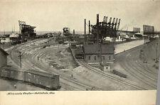 1909 ASHTABULA OH Minnesota Docks Railroad Cars postcard
