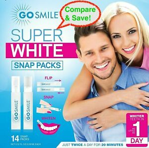 🔥Go Smile GS134 Super White Teeth Whitening System Snap Pack Kit (14) 🔥