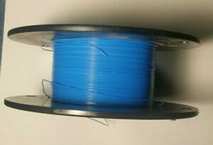 28 AWG Thin Wall,Type ET Mil-Spec Wire Blue (PTFE) Stranded Silver Plated 25ft