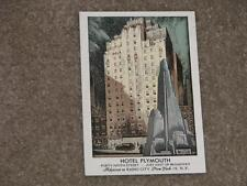 Hotel Plymouth, 49th St., New York City, unused vintage card