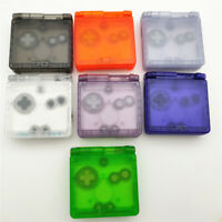 7 color Transparent Clear Shell Housing Case For Game Boy Advance SP GBA SP -NEW