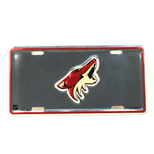 PHOENIX COYOTES CAR TRUCK TAG CHROME LICENSE PLATE METAL SIGN NHL MIRROR AUTO