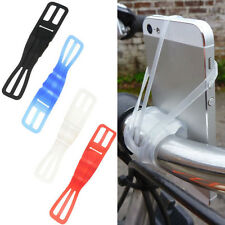 1PC Black Silicone Motorcycle Bike Mount Holder Band For Smart Cell Phone