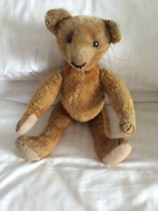 ANTIQUE GERMAN CINNAMON MOHAIR STICK BEAR