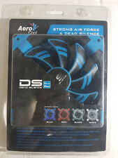 AeroCool Dead Silence DS Computer Cooling Case Fan 140mm 9 Blade Blue LED Light
