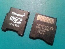 MicroSD Kingston con adaptador MiniSD, 256MB, 512 MB. + 1 GB, 2 GB, 4 GB, 8 GB, 16 GB, 32 GB.