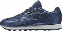 Reebok Classic CL Leather Textural HYPE Sizes 5-7 Blue RRP £80 BNIB BS6784