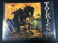 Tolkien Calendar 1998 Herr der Ringe Hobbit Vintage Kalender Harper Collin 12DK4