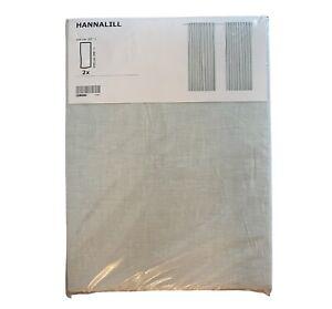 "IKEA HANNALILL CURTAIN 1 PAIR 57x98"" LIGHT GREY NEW"