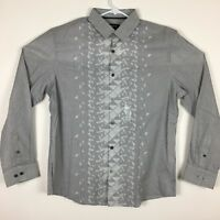 NEW Alfani Mens Printed Long Sleeve Button Down Casual Shirt Size L - NWT $65