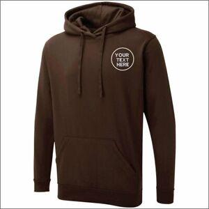 Personalised Custom Embroidered Uneek UX4 Hoodie Pullover Hooded Sweatshirt TOP