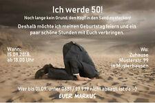 Einladungskarten 50 Geburtstag Lustig Günstig Kaufen Ebay