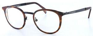 Ermenegildo Zegna Round Eyeglasses EZ5048 053 Havana Matte Black 49-21-140 PB1