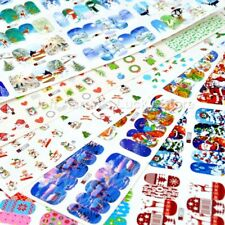 60 sheets Mixed Christmas water transfer nail art decoration stickers decals lot