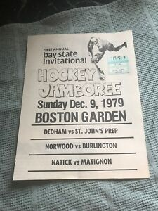 1979 Bay State Invitational Hockey Boston MA Program Teams Annual Rare Vtg