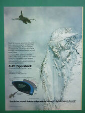 6/1986 PUB NORTHROP F-20 TIGERSHARK USAF TACTICAL FIGHTER GE F404 ENGINE AD