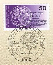Berlin 1985: Edikt von Potsdam Nr. 743 mit sauberem Ersttagsstempel! 1A! 1711