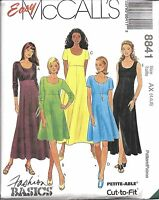 8841 UNCUT Vintage McCalls Sewing Pattern Misses Easy High Waist Pullover Dress