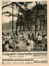 PARC MONCEAU COQUELIN COURCELLES MAURICE DUBOIS CHAZELLES GLACES  PUBLICITE 1932