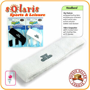 KoolFree Antimicrobial Sports Headbands High Absorbent Plush Sweatbands x 2