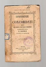 conferenze sui concordati tenute dall eminentissimo cardinale n.wieseman- 1856