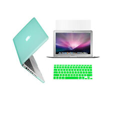 "3 in 1 Rubberized GREEN Case for Macbook PRO 13"" + Keyboard Cover + LCD Screen"