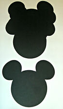 "20 Mickey Mouse Head 5"" From Ear to Ear Black (1006E)"