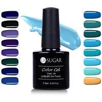 7.5ml Sheer Colors Nail Art Soak Off Gel Polish Blue Black Series UV Led Gel DIY
