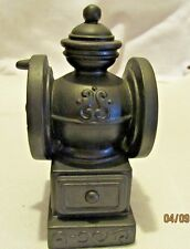 vintage banthrico inc. coffee grinder black metal bank made in Chicago, Ill.