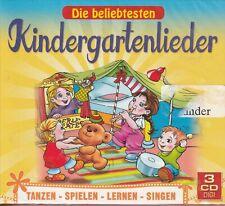 Die beliebtesten Kindergartenlieder / Tanzen-Spielen-Lernen-Sing (3CDs, NEU/OVP)