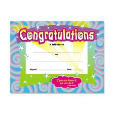 "Trend Certificate Of Congratulation - 8.50"" X 11"" (T2954)"