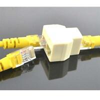 1 to 2 Ethernet Network LAN Cable Splitter Connector Adapter Extender Plug RJ45