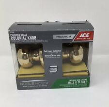 Ace Noble House Egg Knob Oil Rubbed Bronze Hall and Closet Latch Set Open Box