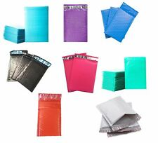 Poly Bubble Mailers Shipping Mailing Padded Bags Envelopes Color Pick Size