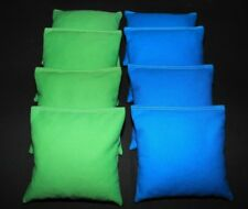 CORNHOLE BEAN BAGS Lime and Turquoise 8 ACA Regulation Corn Hole Game Bags