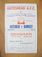 GATESHEAD v BARNSLEY FA Cup 1954/1955 *Excellent Condition Football Programme*