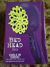 Bed Head Curls in Check 1875 Watt Diffuser Hair Dryer, New, Free Ship