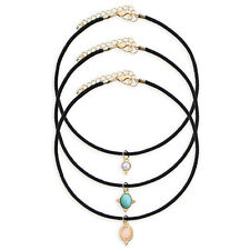 Vintage Charm Women Chain Pendant Statement Collar Bib Choker Necklace ab