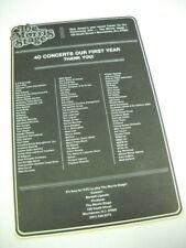 Morris Stage in Nj 1978 promo advert Harry Chapin Good Rats Elliott Murphy more