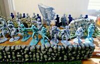 👀28 LOT Conte & Armies in Plastic Iron Brigade ATTACK Civil War*54mm*Yankee 💥