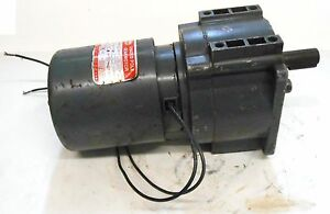 DAYTON, SHADED POLE GEARMOTOR, 3M328A, 1/20 HP 115 VOLTS, TYPE 63