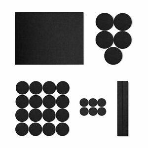 Felt Pads furniture leg self adhesive 3-5mm floor protectors pack 30 assorted