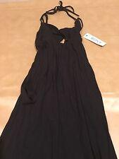NWT Roxy Patmos Dream Dress Women Black Tie Back Sexy Maxi Small New