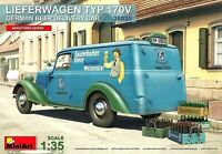 Miniart 1:35 Mercedes Lieferwagen Typ 170V German Beer Delivery Car Model Kit