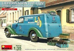 Miniart 1:35 Mercedes Lieferwagen Typ 170V German Beer Delivery Car Model Kit