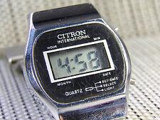 ANTIGUO CITRON ELECTRONICO 1980 BUSCADO POR COLECCIONISTAS FUNCIONA LOTE WATCHES